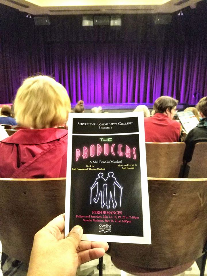 Attended a matinee performance of The Producers - A New Musical by Mel Brooks. Hilarious show with catchy songs and strong vocals/dance! For such a low ticket price, it offered well-polished student production value that rivaled some major professional tours.