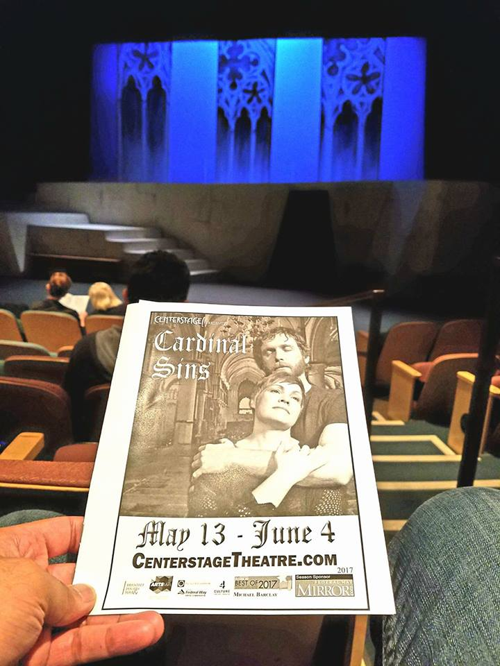 "Attended the world premier of the musical ""Cardinal Sins."" For being in Federal Way (of all places), it was okay quality. But could they have chosen a duller subject than the Magna Carta? Snore..."