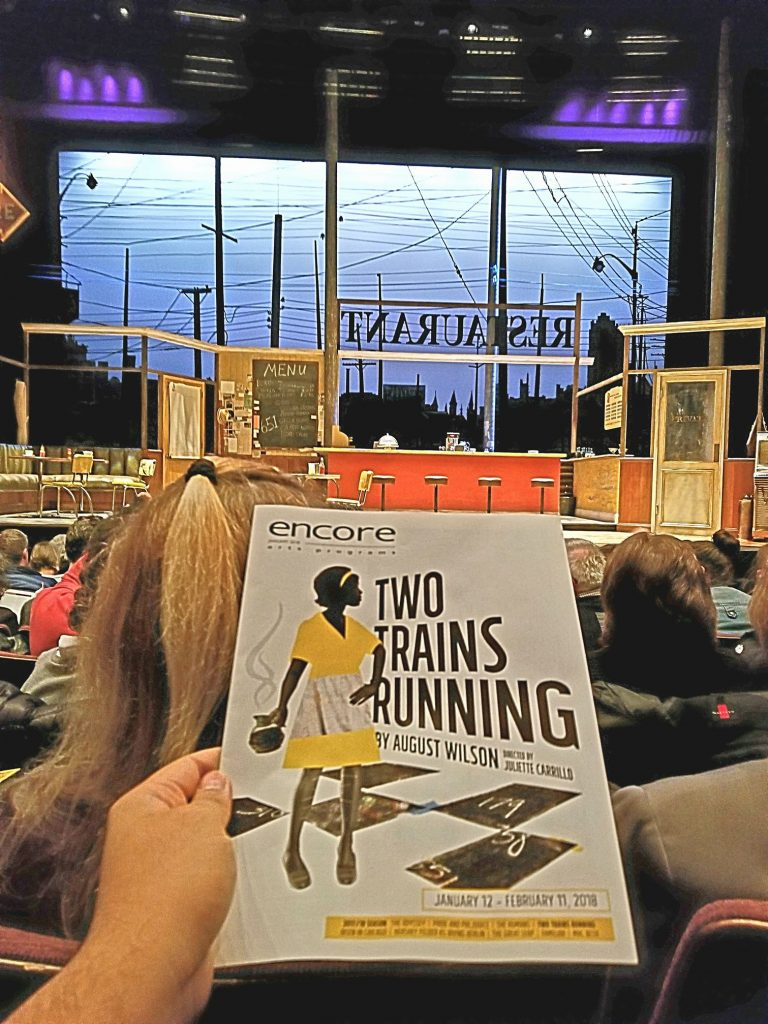 Attended a preview of the play Two Trains Running. What's up with Seattle Repertory Theatre choosing plays where people just talk? No action, scene changes, or entertainment. So boring! At least the 3rd performance here I've walked out at intermission.