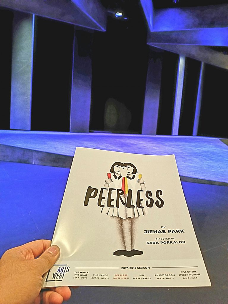 "Watched the play ""Peerless"" which was basically Heathers and Macbeth with ambitious Asian twins. Dialogue was a little difficult to follow but the play was good."