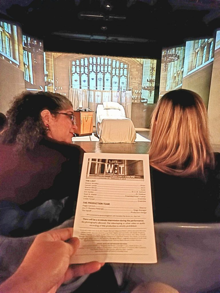 "Opening night to the Pulitzer Prize-winning play ""WIT."" It took great skill to effectively intersect cancer with annoying English lit academia. Surpised how much I enjoyed it. Maybe I'm biased cause I work in oncology. Ending needed a little more maturation."