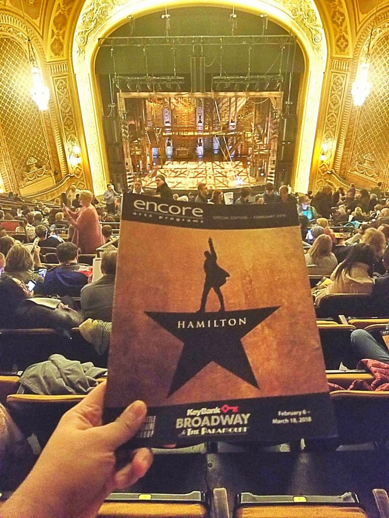 Watched Hamilton: An American Musical w/ Paul. Golden voices & tight harmonies. Dual-rotating stage & lighting were a nice touch. Not a fan of the history lesson or the rapping. I'll concede to Paul though: yes, it's probably one of the most important artistic works of our time esp in this political climate. It was a great musical but I don't understand the hype.