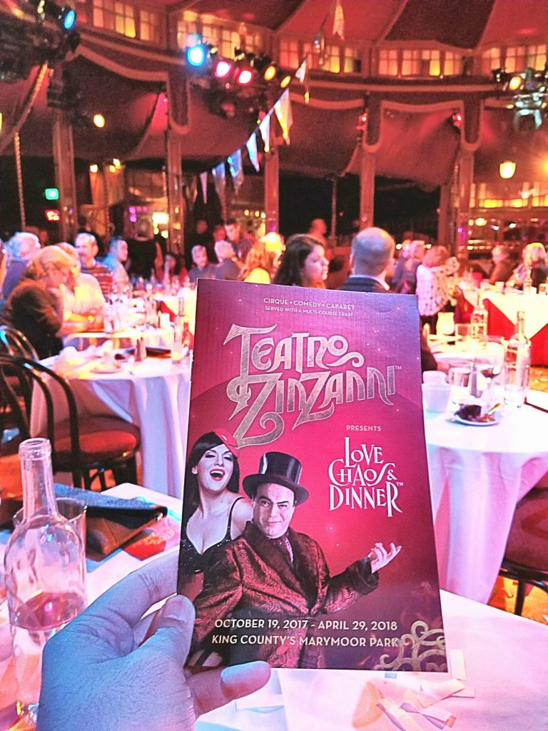 Attended Teatro ZinZanni: Love, Chaos & Dinner with coworkers. Very entertaining carnival/circus dinner theatre with some camp. Much better than Cirque du Soleil. So glad we didn't get called on stage though.