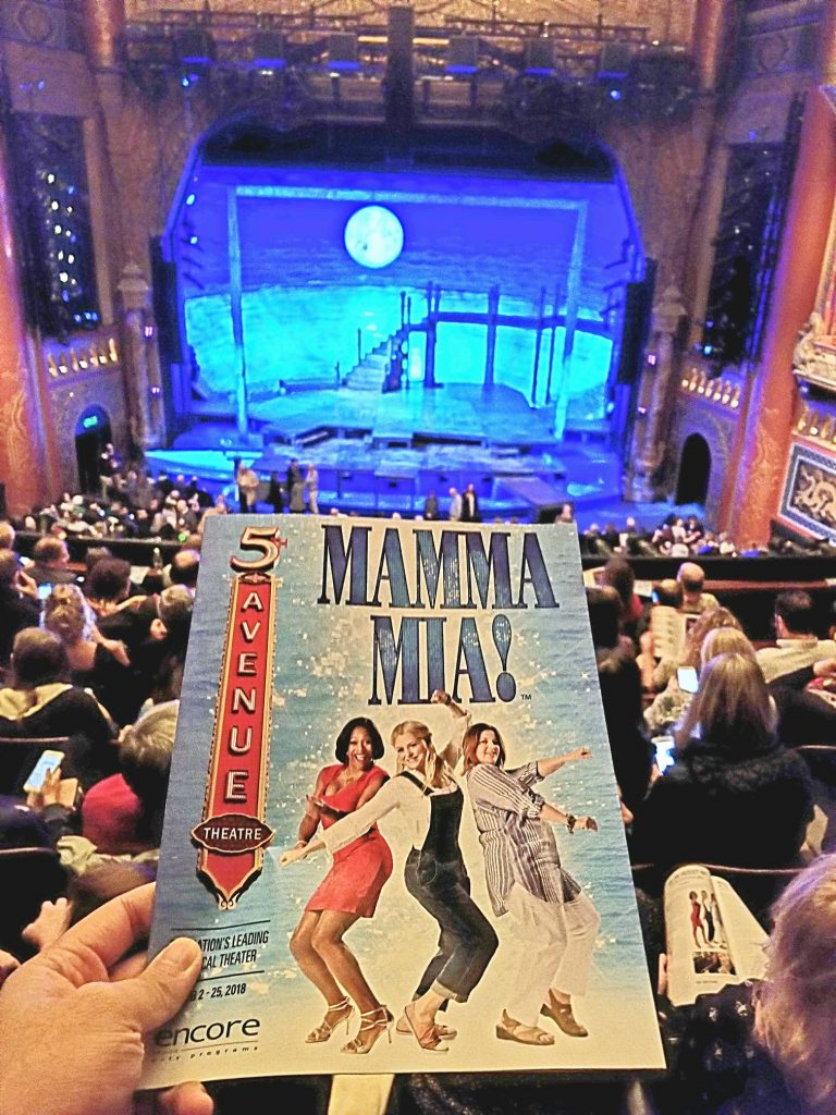 "Watched MAMMA MIA! Obviously, the past national tours were better. But who can say no to a feel good saccharine musical? ""See that girl. Watch that scene. Diggin' the dancing queen!"" ?"