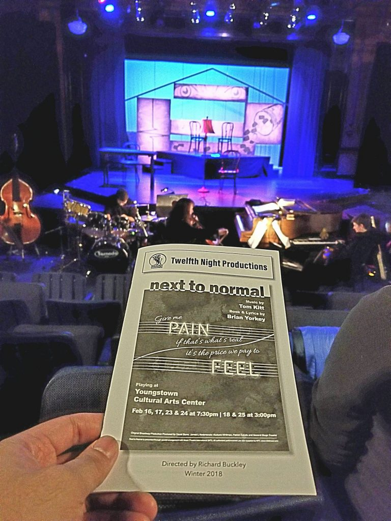Watched my 1st/2nd-most favorite musical Next to Normal with Paul. Aside from from the pitch issues (I mean ... it was early in the day), I was impressed. Powerful musical with a realistic (aka sad) commentary/ending on mental health. Is there hope?