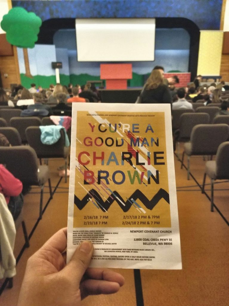 Attended a matinee of You're A Good Man Charlie Brown. Collection of good and bad sketches/songs without a plot. Not sure why this show won a Tony. Band/actors were great though. Curious to see what they perform next. — attending You're A Good Man, Charlie Brown at Newport Covenant Church.