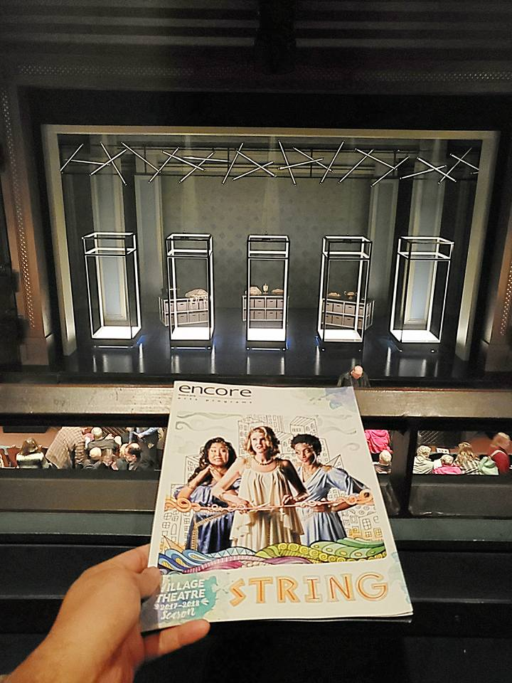 "World premiere of the musical ""String"" - a goofy/sad romantic comedy/tragedy about the Greek Fates and predestination. Love what they did to the set since I saw this in Beta series last year! I had to take 2 pix."