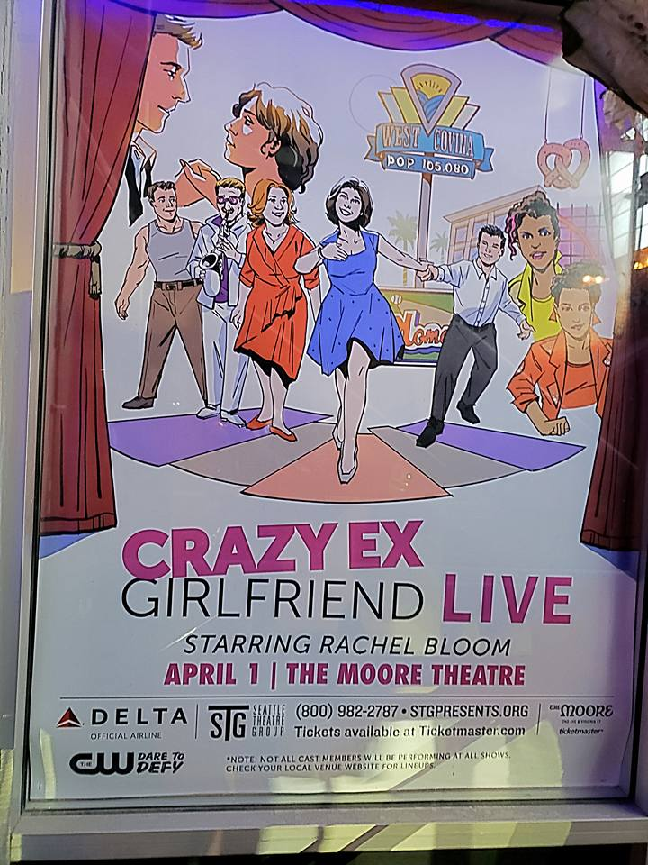 Watched the overhyped Crazy Ex-Girlfriend live with Srikanth and left early. Way too millennial for us to handle. Plus it ended up being more of a concert/comedy show (when I was expecting a musical). Never even seen a full episode myself!