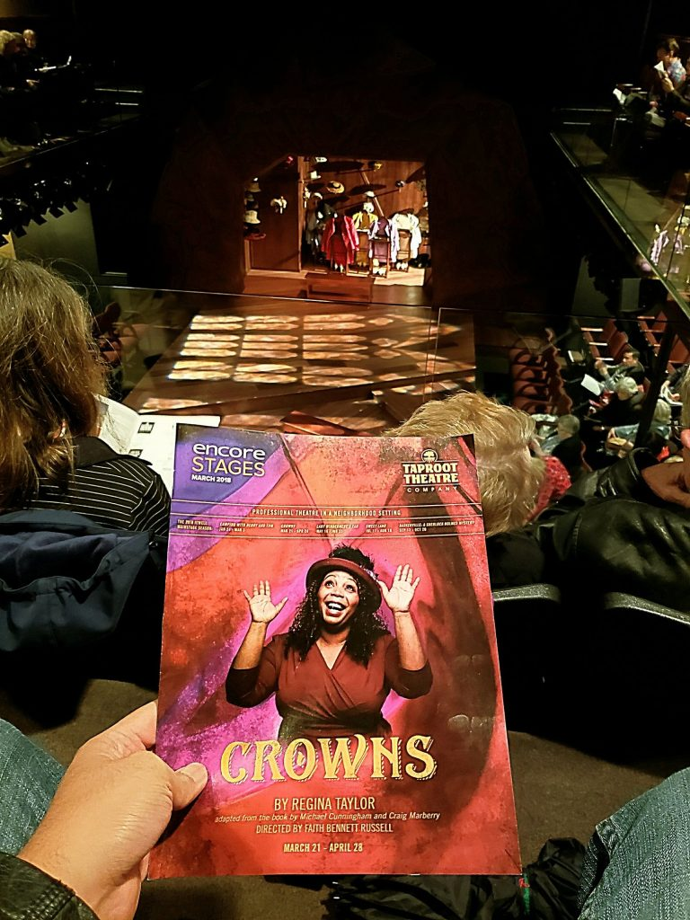 Watched Crowns The Gospel Musical. Good songs but no subtantial plot. They were literally just talking about wearing hats! There's only so much you can say. — attending Crowns at Taproot Theatre.