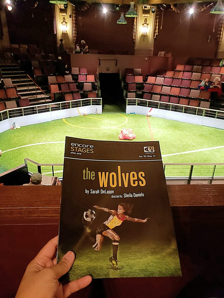 "Opening preview night of ""The Wolves"" play. Usually not a fan of plays where it's all talk and no action but this wasn't terrible. However, it didn't seem like an accurate depiction of high school. Maybe college? — attending The Wolves at ACT Theatre."