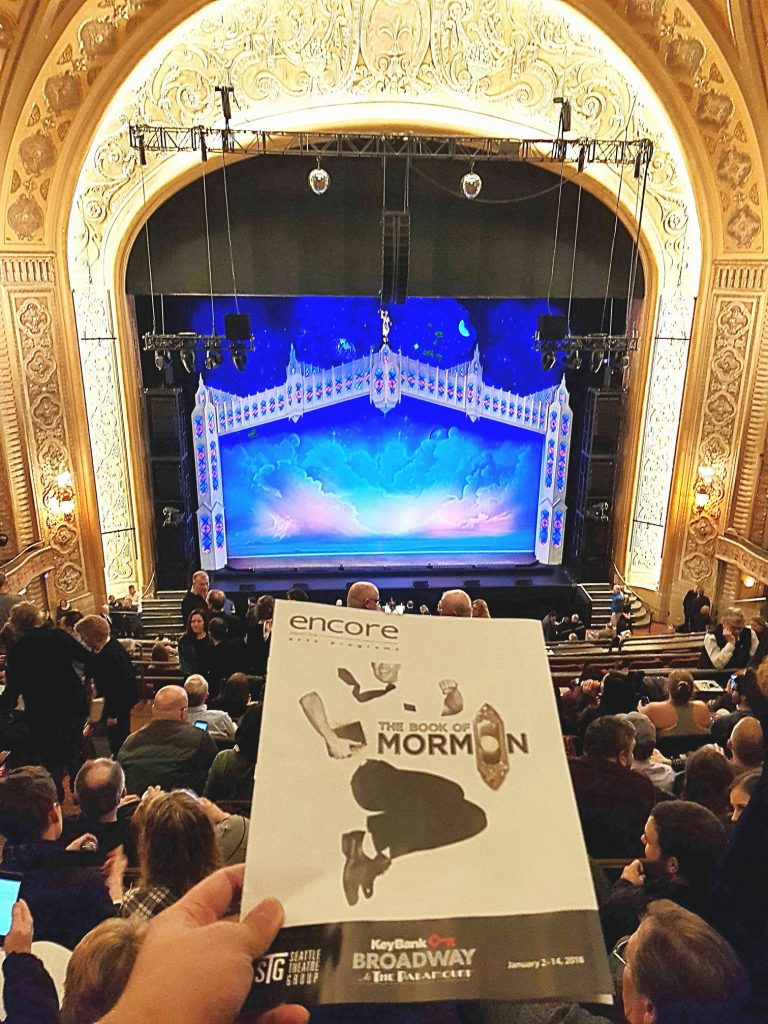 "Attended the sold out run of The Book of Mormon on Broadway. After 6 unsuccessful lottery attempts, I ended up buying on StubHub. Can't go wrong with this show ... but the last 2 national tours were slightly better. ""Tomorrow is a latter day!"" — attending The Book Of Mormon- Seattle, WA at Paramount Theatre."