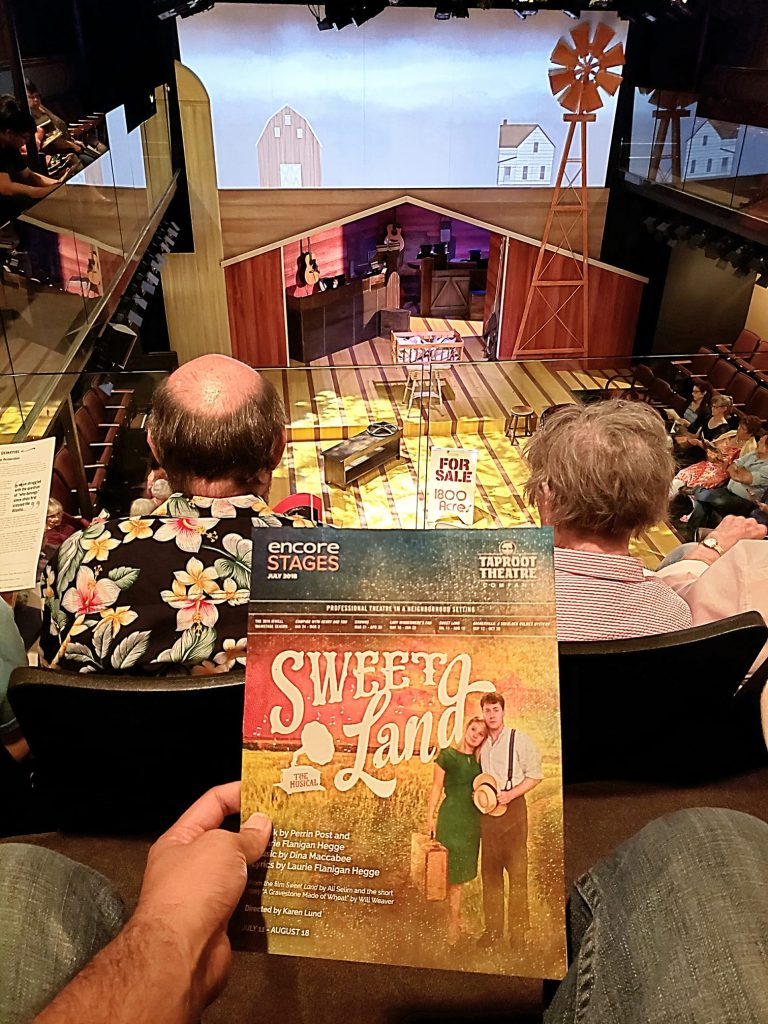 Watched the Sweet Land Musical. Probably my last time at Taproot Theatre. Their season selections (though performed well) are always so slow, sentimental, and old-timey. — attending Sweet Land, the Musical at Taproot Theatre.