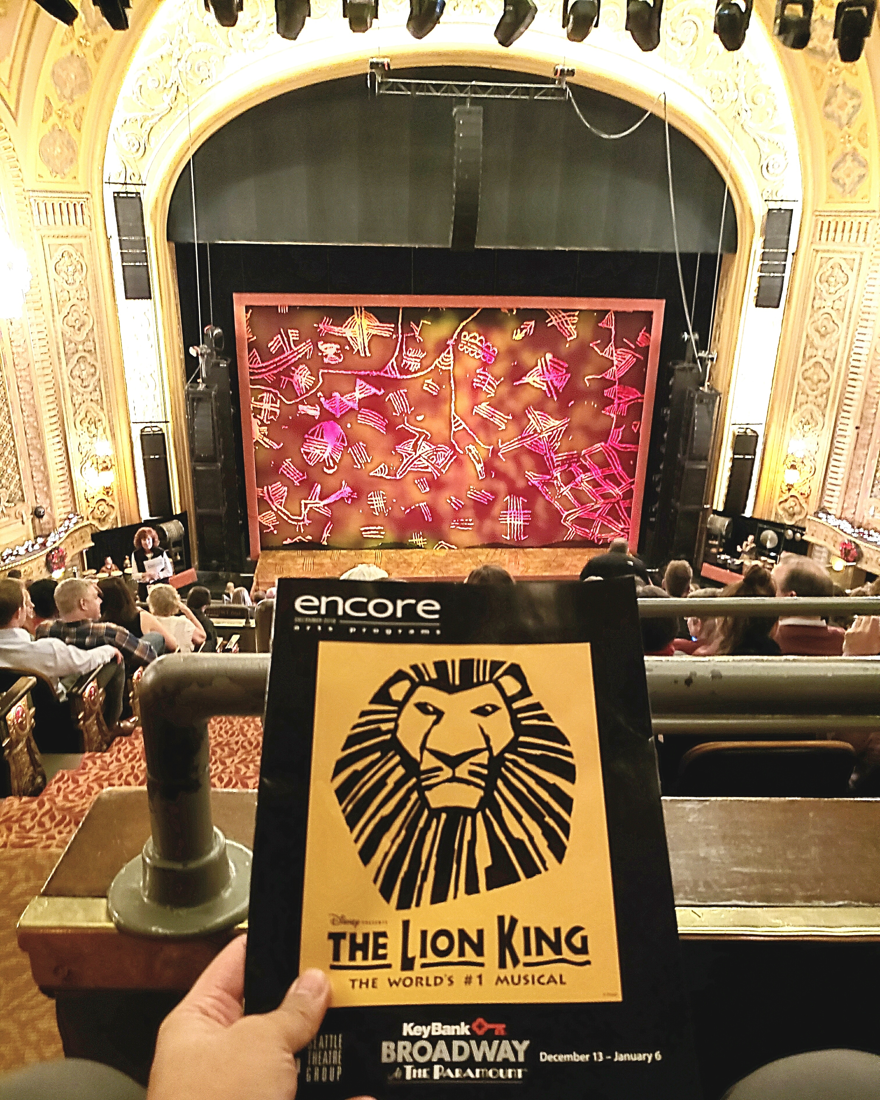Disney's The Lion King - Musical #soldout run at Paramount Theatre. Costumes, set, & music were #AMAZING but show didn't live up to the #hype. #Puppetry isn't a great stage medium & animals aren't good stage characters. Also too #kidfriendly. #circleoflife #hakunamatata