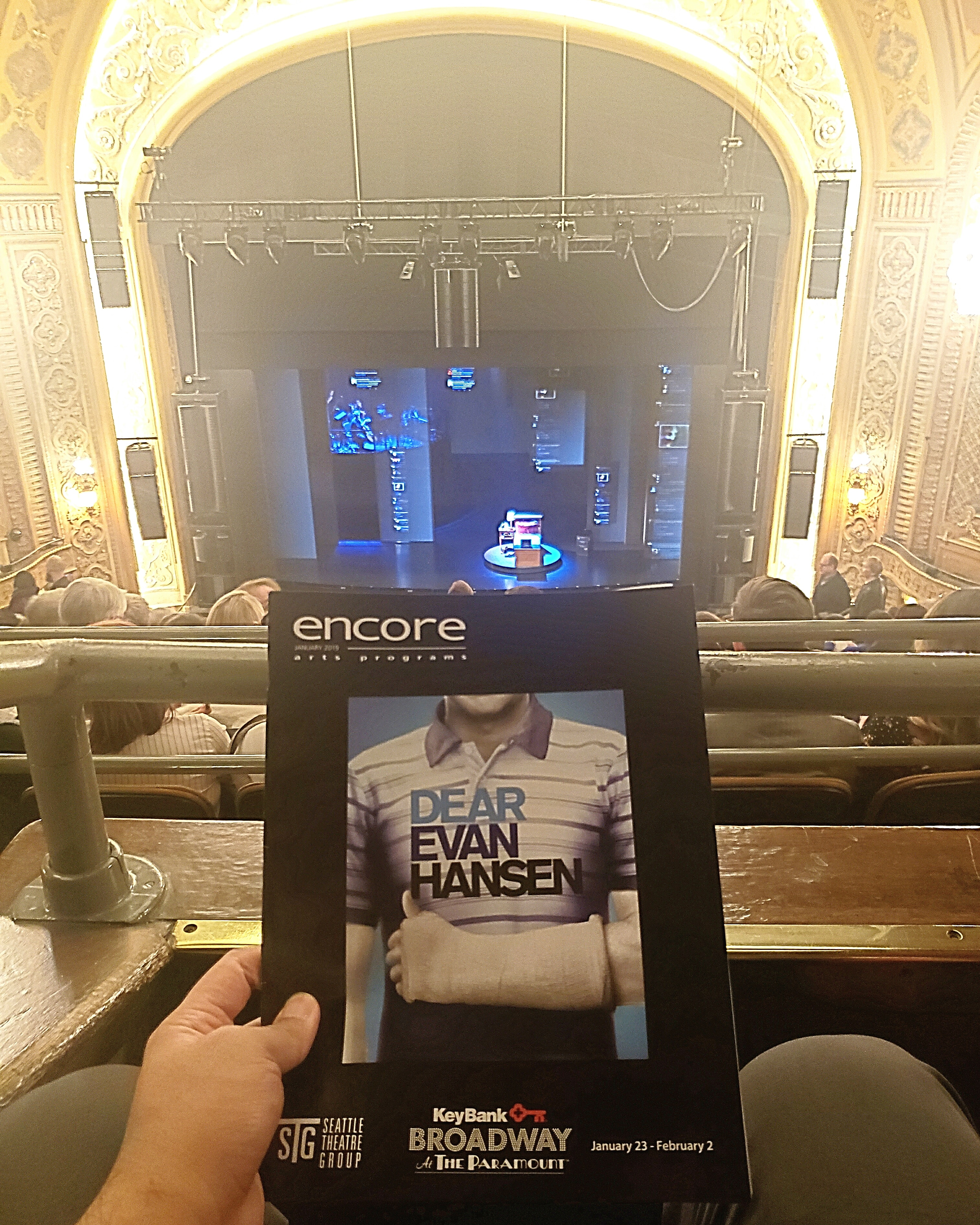 #Soldout run of the Tony Awards & Grammy Awards-winning #musical Dear Evan Hansen at Paramount Theatre. #Slow & didn't live up to the #hype. Not a fan of #highschool #teenager storylines. Amazing #projections & #lighting.