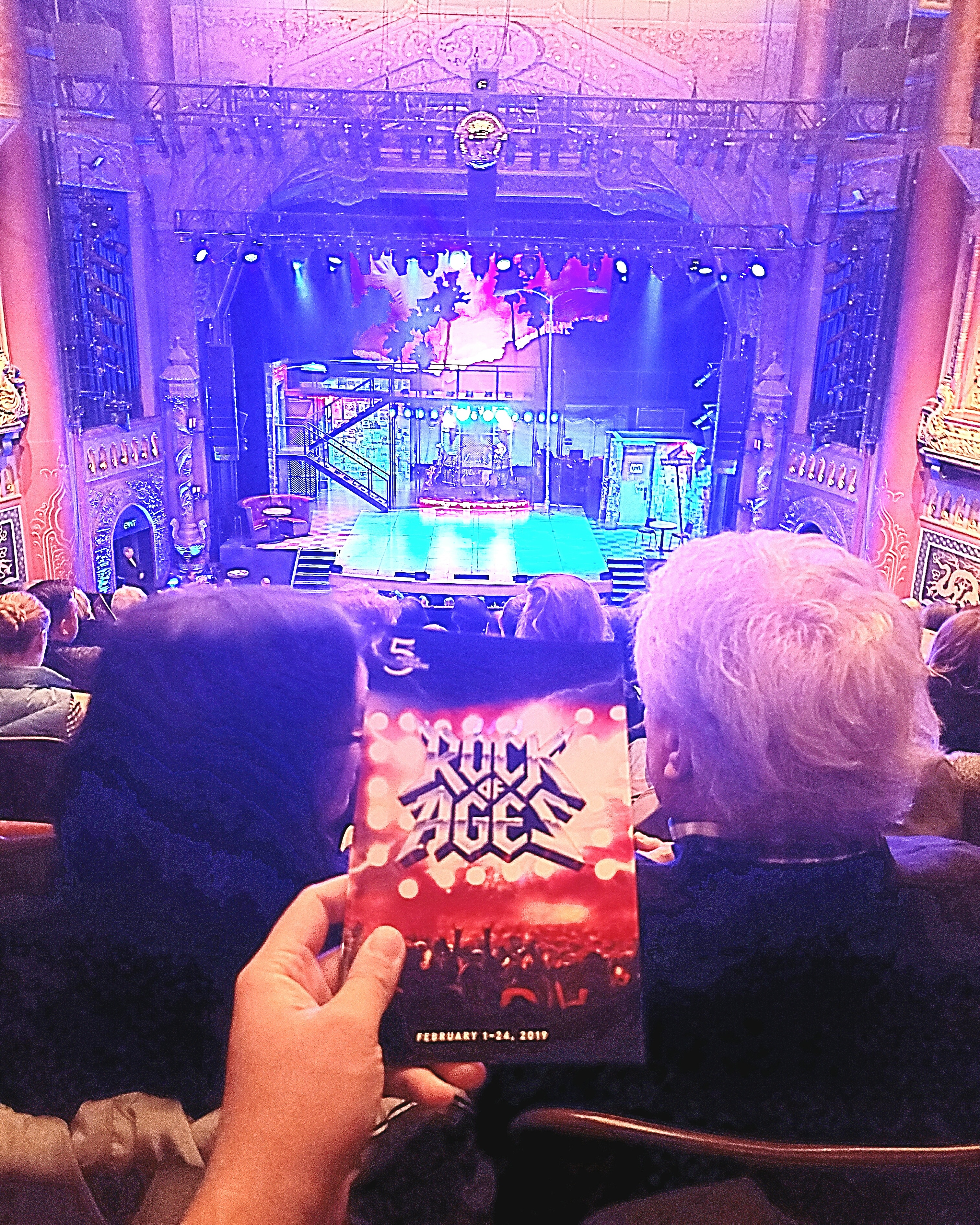 @RockOfAgesMusical closing weekend at @The5thAvenueTheatre. #Corny #jukebox #80s #rock #musical. #TightHarmonies. #Rowdy audience. #Loud sound engineering. Don't stop believing!