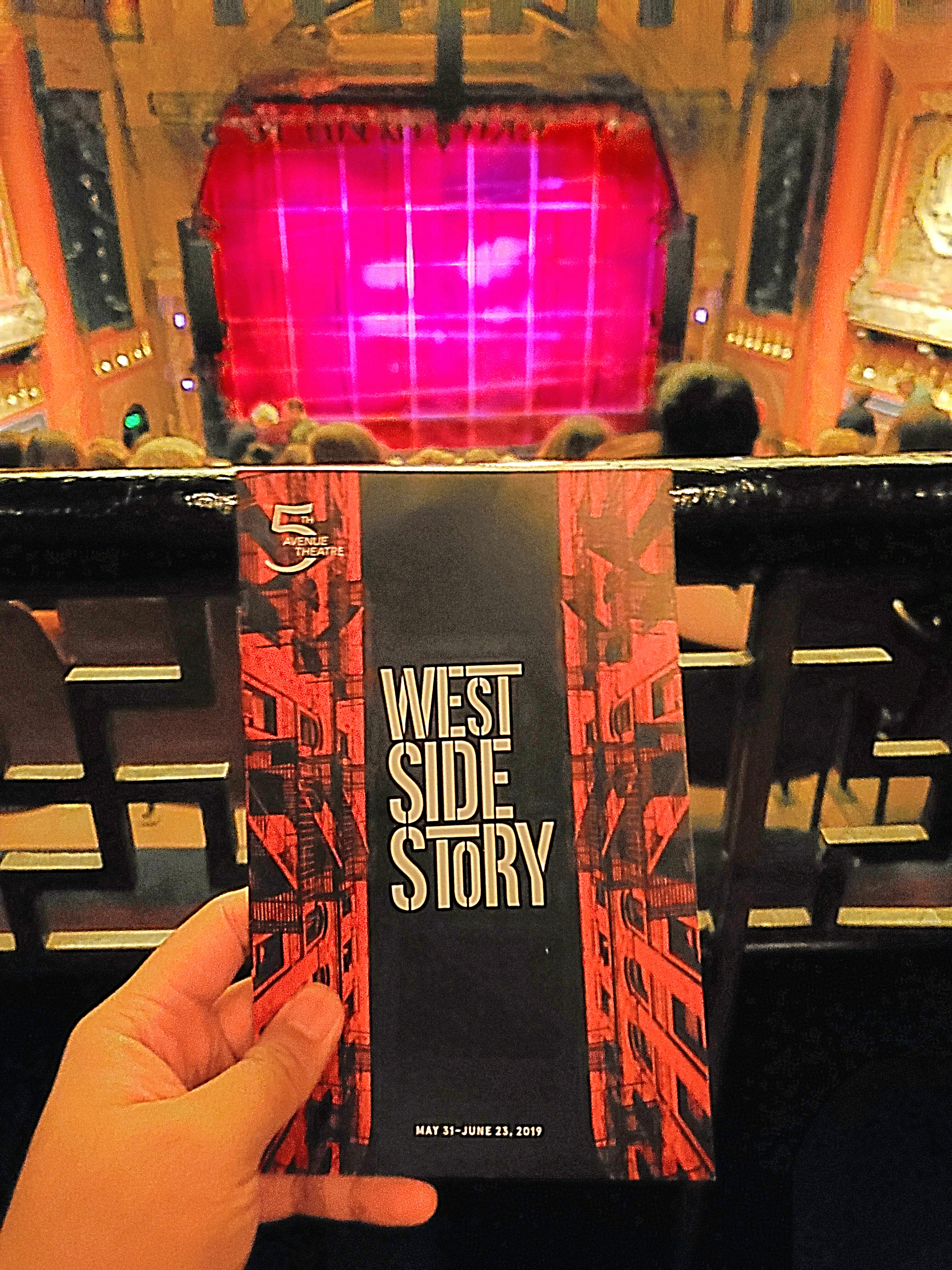West Side Story #musical w/ Raymund at The 5th Avenue Theatre. Rich male lead voice. #Iconic songs. Beautiful orchestration. Strong #choreography but comical for tough #gangs to