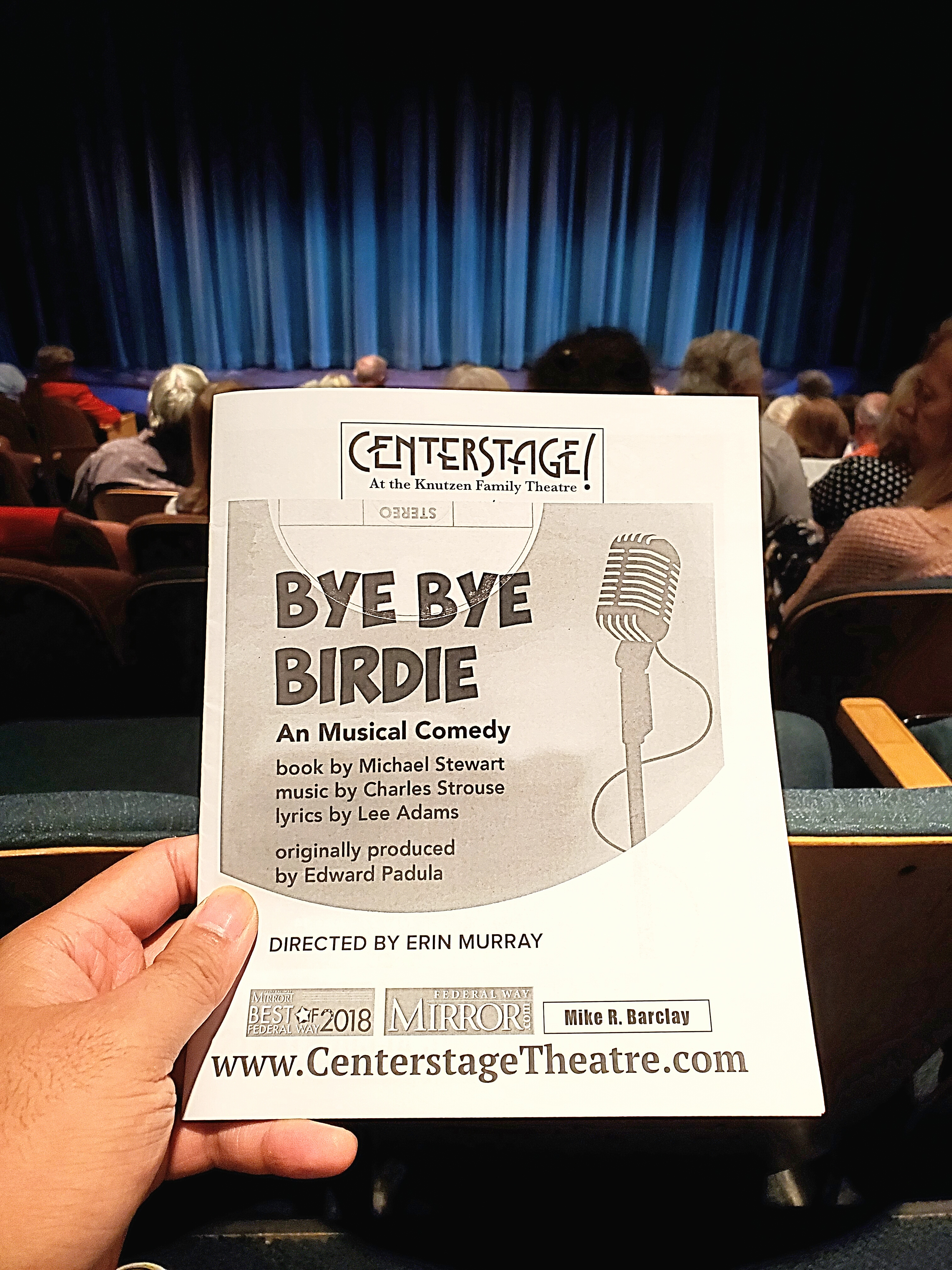 Bye Bye Birdie (musical) w/ Raymund at Centerstage Theatre. The dramatic middle-aged