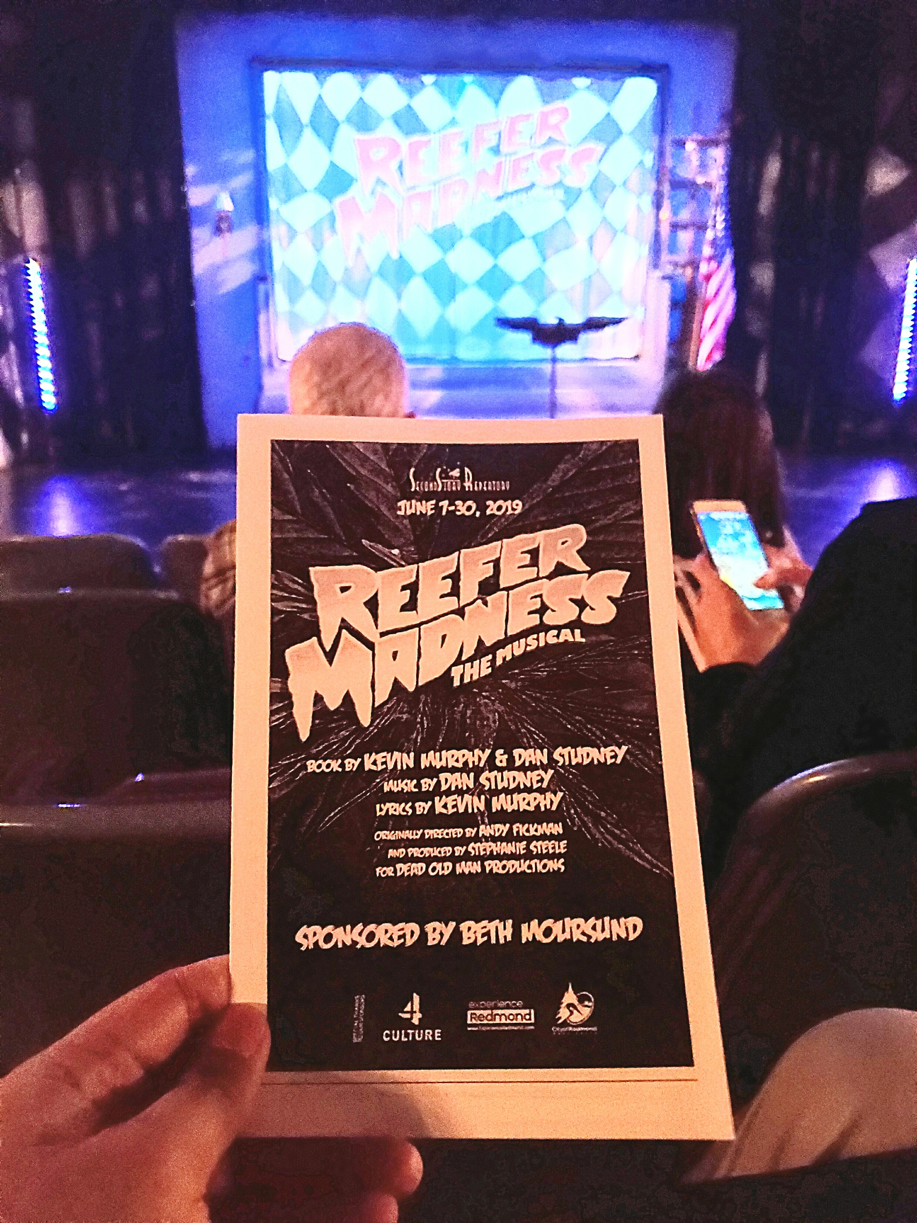 Watched Reefer Madness: The Musical. Blown away by the talent of these community performers (and I've seen a professional production of this #musical). Most everybody looked so fit when scantily clad! One of the best SecondStory Repertory shows I've seen. #marijuana #weed #reefer #MaryJane
