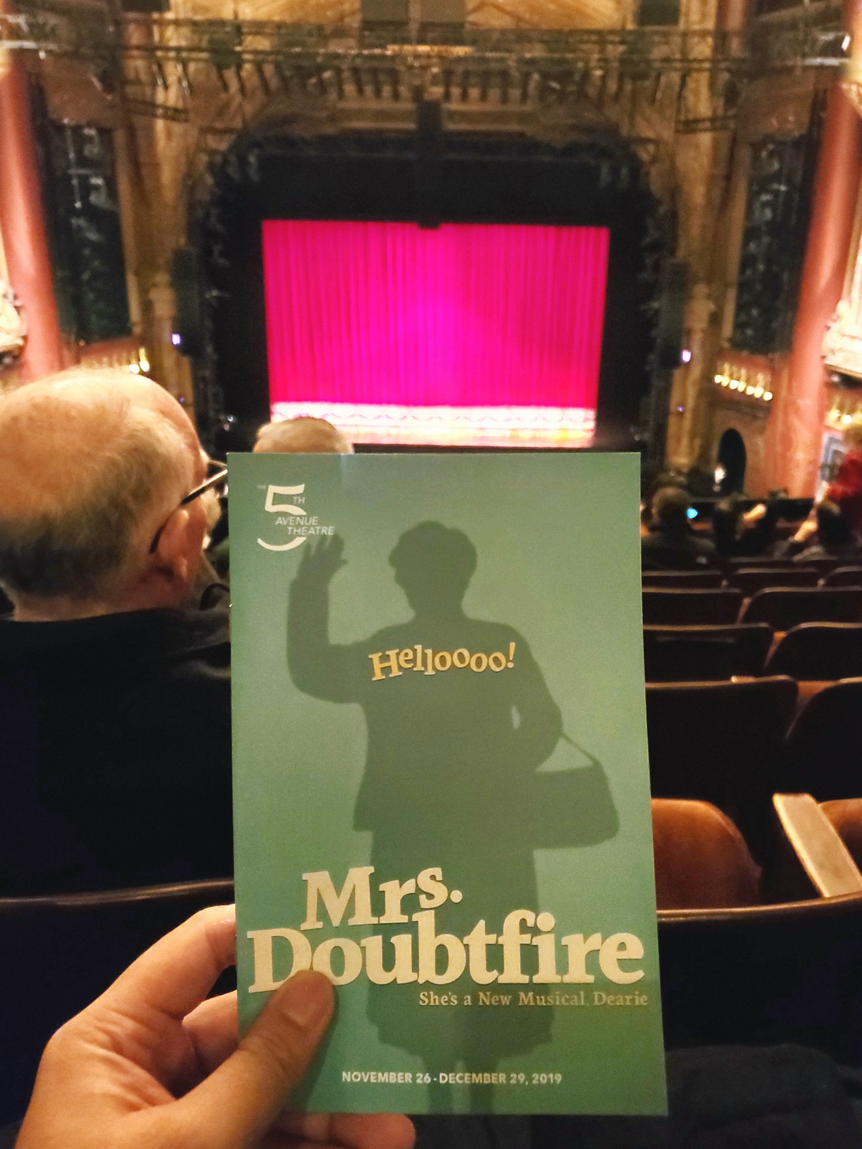 @DoubtfireBway at @The5thAvenueTheatre before it goes to #Broadway in spring 2020. #Hilarious stage #musical adaptation of the movie. Lead actor was crazy #talented.